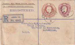 GRANDE - BRETAGNE : ENTIER POSTAL . BICOLORE . REC DE LONDRES . 1914 . - Stamped Stationery, Airletters & Aerogrammes