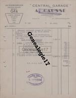 12 0252W CAPDENAC GARE AVEYRON 1948 Garage A. CAUSSE Automobiles GFA BERNARD DELAHAYE LAFFLY SIMCA UNIC Tampon MOUSSIE R - Cars