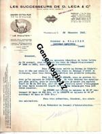 13 0956 MARSEILLE 1941 Les Successeurs De D. LECA Et  Cie Savon Extra Pur LE MOUTON 16 Chemin Ste Marthe à BLACHER - Food