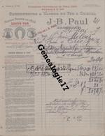 13 1287 MARSEILLE BOUCHE DU RHONE 1917 Savonnerie A Vapeur J. B. PAUL Savonneries Fer A Cheval SAVON ARLESIENNE CAPUCIN - 1900 – 1949