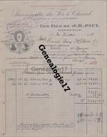 13 1288 MARSEILLE BOUCHE DU RHONE 1918 Savonnerie A Vapeur J. B. PAUL Savonneries Fer A Cheval SAVON ARLESIENNE CAPUCIN - 1900 – 1949