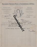 13 1300 MARSEILLE 1921 Huileries ANTONIN ROUX Savonneries JB PAUL Savonnerie Fer à Cheval Huilerie PRADO Et CH. CORAZE - 1900 – 1949