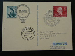 Carte Postcard Vol Flight Pro Juventute / SOS Kinderdorf Ballon Montgolfière Ballonpost Lorch 1958 (ref 96108) - BRD