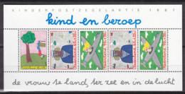 NIEDERLANDE Block 30, Postfrisch **, Für Das Kind: Kind Und Beruf 1987 - Bloks