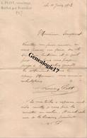 24 0021 ROCHAT Par VERTEILLAC DORDOGNE Minotier L. PETIT Lettre 1902 Dest Mr FOUGERAT - Non Classificati