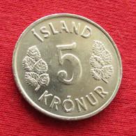 Iceland 5 Kronur 1971 KM# 18 Lt 380 *V2  Islande Islanda Islandia - Iceland