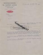 31 2182 TOULOUSE HTE GARONNE 1923 Manufacture Chaussures G. GISCARD Rue Montplaisir Grande Allee SANDALETTE CHARENTAIS - Kleding & Textiel