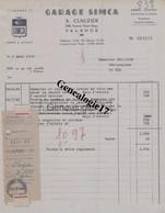 26 1239W VALENCE SUR RHONE DROME 1948 GARAGE RHODANIEN Des Ets A. CLAUZIER Ave Victor Hugo Marque SIMCA - Cars