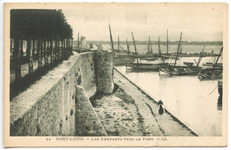 Port Louis, Les Remparts Vers Le Port, France, Postcard, CPA, Unused - Ohne Zuordnung