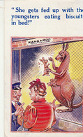 """HB Comic Card Used 1952 From Eire 2p Stamp To Bristol """"kangaroo- Fed Up With Kids Eating In Bed"""" - Fumetti"""