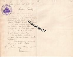 36 0030 VALENCAY INDRE  Lettre De Huissier A. TRONE Concernant Les Affffaires PETIT Ou PETAT Et  AUGER ? 1910 - Bank & Insurance