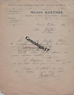 37 1154 TOURS INDRE ET LOIRE 1920 Corderie Ficellerie Peche BARTHES Place Gaston Paillhou à WALTER De LE BLANC 36 - 1900 – 1949