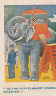 Unused Comic Card  Drunk On Zoo Elephant - Fumetti