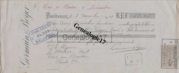 33 3526 BORDEAUX GIRONDE 1909 Maison GERMAIN - BOYER  Tampon JULES DEOUX ( Morue Morues ) A Milou - Letras De Cambio