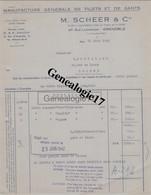 38 1675 GRENOBLE ISERE 1942 Manufacture De Gants Et Filets M. SCHEER Rue Lachmann Agent DAUCHY Rue Hauteville à PARIS - Textile & Clothing