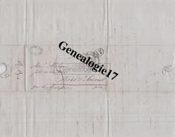 38 2782 RIVES DE GIER ISERE 1845 LETTRE AFFRANCHIE Ets PIAUD Dest BOUSSET De BOIS SAINT AMONT JURA - 1800 – 1899
