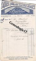 39 0343 MOREZ JURA 1935 Plaques Emaillees H.P FORESTIER  - EMAILLERIE - Non Classés