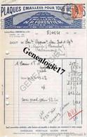 39 0355 MOREZ DU JURA 1951 Fabrique De Plaques Emaillees EMAILLERIE H. P. FORESTIER  ( Succ GRENIER  ) 18 Rue Pasteur - Non Classés