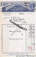 39 0358 MOREZ DU JURA 1951 Plaques Emaillees EMAILLERIE H. P. FORESTIER 18 Rue Pasteur - Non Classés