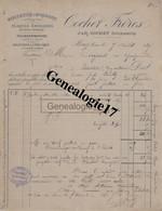 39 0526 MOREZ JURA 1897 Manufacture Horlogerie COCHET FRERES Plaque Emaillee Tournebroche Lunetterie Tampon JULES BAILLY - Non Classés