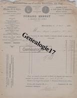 39 0528 MOREZ JURA 1897 Manufacture Plaques Emaillees PONARD ERNEST Horlogerie Montres Lunetterie  Porte Clefs - Non Classés