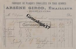 39 0535 MOREZ DU JURA 1913 Emailleur Et Fabrique De Plaques Emaillees ARSENE GIROD à DEPIERRE ALEXIS - Non Classés