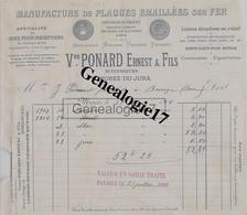 39 0686 MOREZ DU JURA 1905 Emaillerie Manufacture De Plaques Emmaillees Sur Fer VEUVE PONARD ERNEST Rue Du College - Non Classés