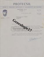 39 0738 ARINTHOD JURA 1957 Cremes Emulsions Silicones PROTECSIL A ESBACH De POLIGNY - 1900 – 1949