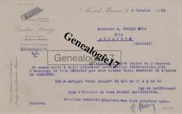 40 0163 MONT DE MARSAN LANDES 1925 Bois GASTON LACAZE ( Usine à MORCENX - SAINT PERDON - CAMPAGNE ) à ROUDEY D ARCACHON - 1900 – 1949