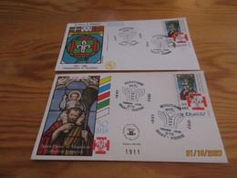 2 Enveloppes 1er Jour Saint-Pierre Et Miquelon Scoutisme Noël 1987 - Gebraucht