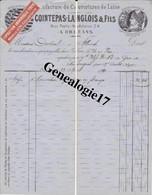 45 0082 ORLEANS LOIRET 1890 Manufacture De Couverture COINTEPAS LANGLOIS Fils 54 Porte Madeleine à Mr OUDOUL D'  ALLANCH - 1800 – 1899