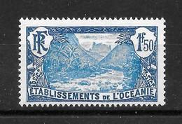 """Océanie Colonie : N° 75 ** """"Vallée De Fataoua""""  Frais  (cote 25,90 €) - Oceanía (1892-1958)"""