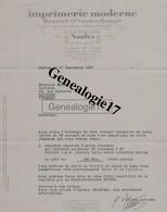 44 0797 NANTES LOIRE INF 1937 Imprimerie BEUCHET Et VANDEN BRUGGE Succ GUENEUX - ROBERT Quai De Versailles Et Penthievre - Imprenta & Papelería