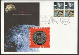 Nederland Ecu Brief 01-1994. Maanlanding - Space, Raumfahrt. Mint * New . Ecu Brief, Ecu Letter, Ecu Lettre - Unclassified