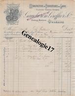 45 0640 ORLEANS LOIRET 1898 Manufacture Couverture De Laine GAUCHERON GREFFIER Succ DELAGRANGE Fbg Madeleine A NEUVILLE - 1800 – 1899