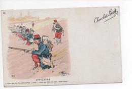 "Chocolat   - Louit  --  Illustration  -   Guillame   -  ""  Simulacre  ""   -  Militaire /  Humouristique - Reclame"