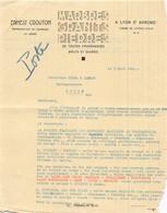 69 3683 LYON RHONE 1932 Marbres Granits Pierres ERNEST CROUTON Agent De CARRIERES Et USINES Chemin De L Etoile D' Alai à - 1900 – 1949