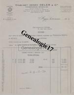 47 0381 AGEN LOT GARONNE 1957 Conserverie  Prunes HENRY DELER Bd Scaliger USINE à LIVRADE SUR LOT à POUYADE De THIVIERS - France
