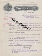 47 0847 0SAINTE LIVRADE LOT GARONNE 1917 Fourniture Boucherie Charcuterie TRUSSANT A VUILLEY De COLOMBIER CHATELOT - France