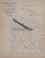 48 0188 LANGOGNE LOZERE 1940 Vetements M. SCHROTTENLOHER Succ RICHARD - SAUVEPLANE Bd Marechal Petain à DEBIZE - France