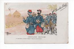 "Chocolat   - Louit  --  Illustration  -   Guillame   -  ""  Aerostation  - Militaire    ""   -  Militaire /  Humouristique - Reclame"
