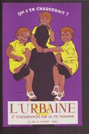 """Buvard ( 21 X 13.5 Cm ) """" L'Urbaine """" Cie Assurances Sur La Vie Humaine Paris - Bank En Verzekering"""