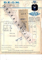 69 0892 LYON RHONE 1956 Application Gaz DEOM D.E.O.M 11 Rue Emile Zola Marque CAMPING GAZ Dest PAILLEUX - Elektrizität & Gas