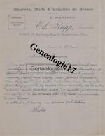 54 0865 NANCY  MEURTHE MOSELLE 1917 Beurres Oeufs Volialles De Bresse ED. RAPP Succ L. WERTER Rue Eugene Hugo - MARCHE - 1900 – 1949