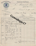 54 0988 LONGWY BAS MEURTHE ET MOSELLE 1912 Garage Central L. MOUSSET FILS Agent Automobile BERLIET Omnibus - 1900 – 1949