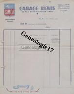 64 0004W PAU Pyrenees Atlantiques Garage SIMCA Ets GARAGE DENIS Rue Emile Guichenne 1953 Dest Mr MAISONGROSSE à NAY - Cars