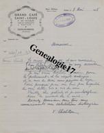 71 1053 AUTUN SAONE LOIRE 1948 GRAND CAFE SAINT LOUIS ET DES VOYAGEURS Des Ets CHATILLON - REBUFFEL Rue Arbalete - Factures