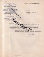 71 0255 CHALON SUR SAONE LOIRE 1948 Manufacture De Casquettes Et  Chapeaux JOLY - CHAMOIN  - Art Militaire Kepi P - Textile & Vestimentaire