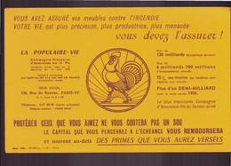 "Buvard ( 21 X 13.5 Cm ) "" La Populaire-vie "" Assurance - Bank En Verzekering"