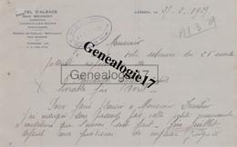 70 0001 LUXEUIL LES BAINS HAUTE SAONE 1929 HOTEL D ALSACE Des Ets RENE BRIANDET - Factures
